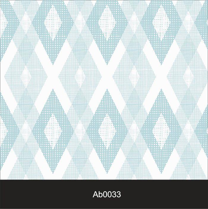 Papel de Parede Auto Adesivo Lavável Abstrato ab0033 Losango Azul  - Final Decor