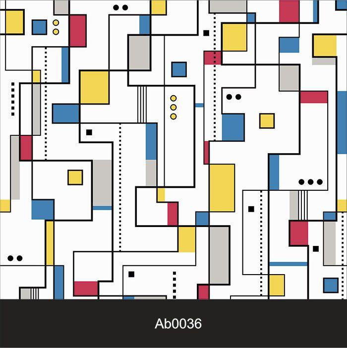 Papel de Parede Auto Adesivo Lavável Abstrato Arte Abstrata Colorida AB0036   - Final Decor