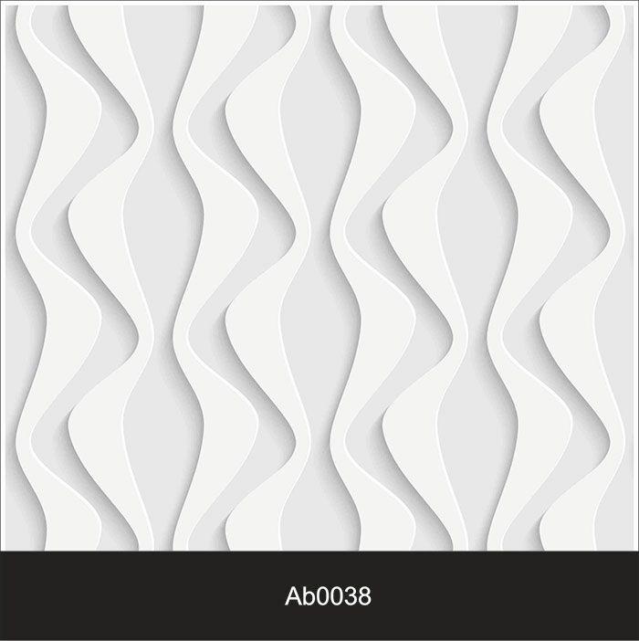 Papel de Parede Auto Adesivo Lavável Abstrato ab0038 Revestimento 3d ondulado  - Final Decor