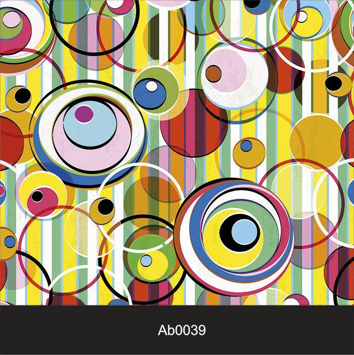 Papel de Parede Auto Adesivo Lavável Abstrato Circo AB0039   - Final Decor