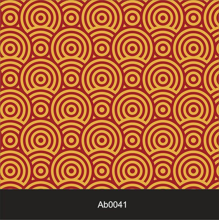 Papel de Parede Auto Adesivo Lavável Abstrato ab0041 Clássico Colorido Retrô  - Final Decor