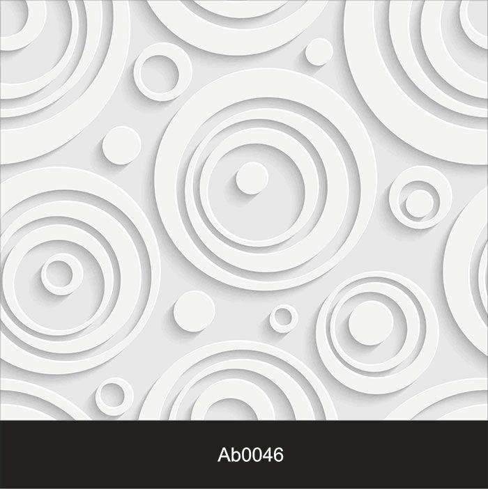 Papel de Parede Auto Adesivo Lavável Abstrato ab0046 Revestimento 3D Circulos  - Final Decor