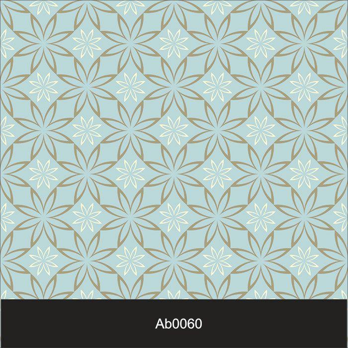 Papel de Parede Auto Adesivo Lavável Abstrato Vintage Azul Bebe AB0060  - Final Decor