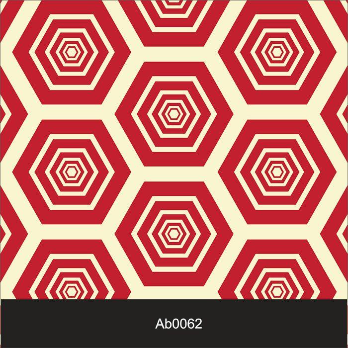 Papel de Parede Auto Adesivo Lavável Abstrato ab0062 Colmeia Vermelha  - Final Decor