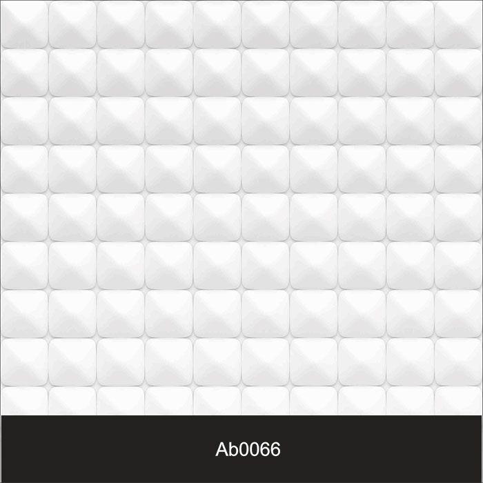 Papel de Parede Auto Adesivo Lavável Abstrato Revestimento 3d Branco AB0066   - Final Decor
