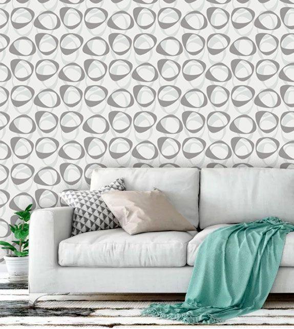 Papel de parede auto adesivo lav vel abstrato ab0070 - Papel de pared moderno ...