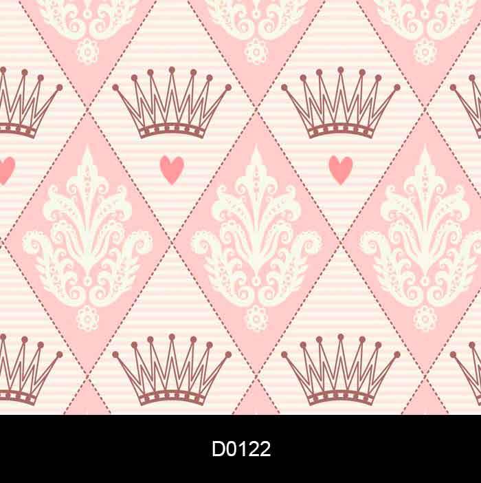 Papel de Parede Auto Adesivo Lavável d0122 Coroa Rosa  - Final Decor