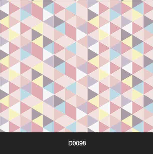 Papel de Parede Auto Adesivo Lavável D0098 Triângulos Coloridos  - Final Decor