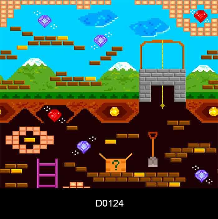 Papel de Parede  Auto Adesivo Lavável D0124 Video Game  - Final Decor