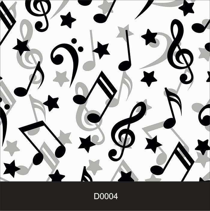 Papel de Parede Auto Adesivo Lavável Diversos d0004 Nota musical  - Final Decor