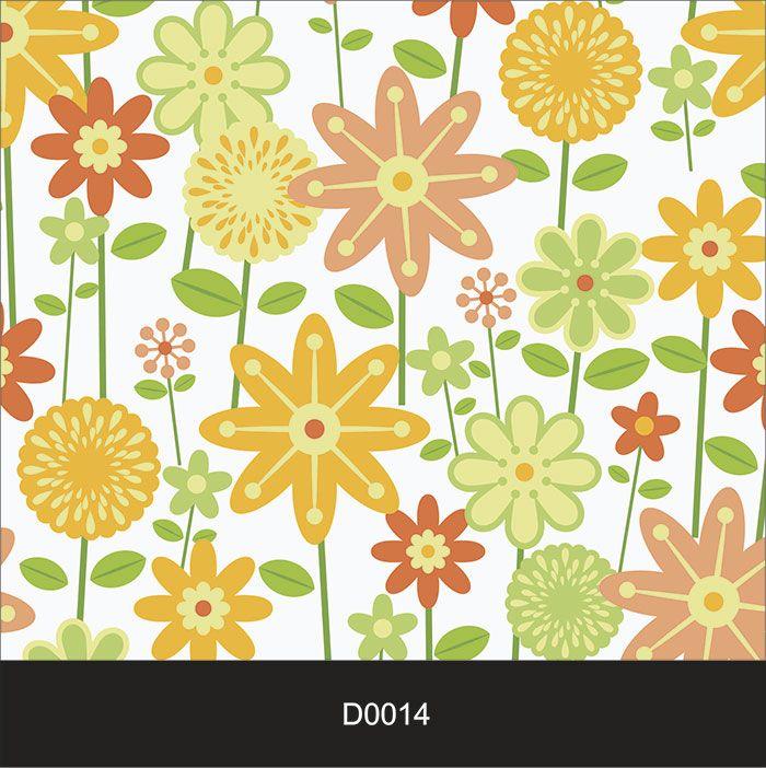 Papel de Parede Auto Adesivo Lavável Diversos d0014 Flores Alegre  - Final Decor