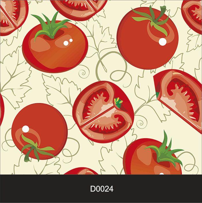 Papel de Parede Auto Adesivo Lavável Diversos Tomate D0024  - Final Decor