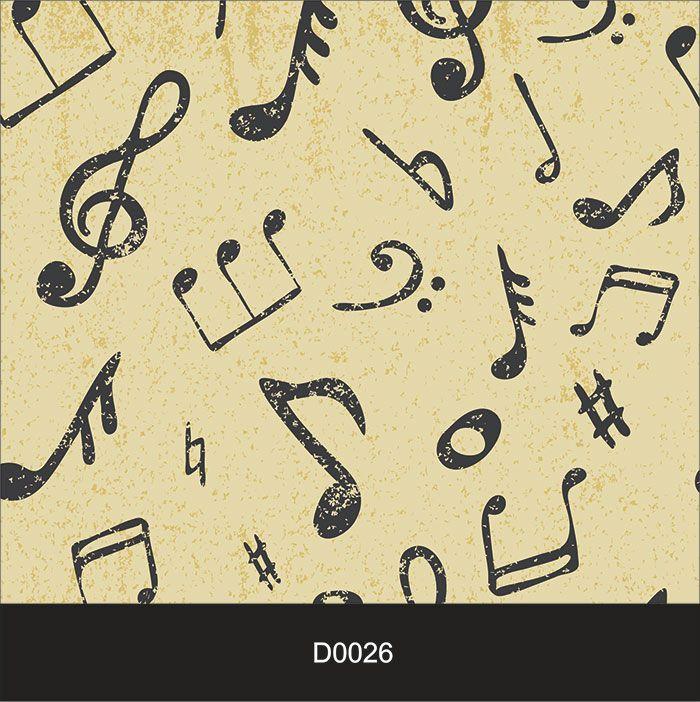 Papel de Parede Auto Adesivo Lavável Diversos d0026 Musical  - Final Decor