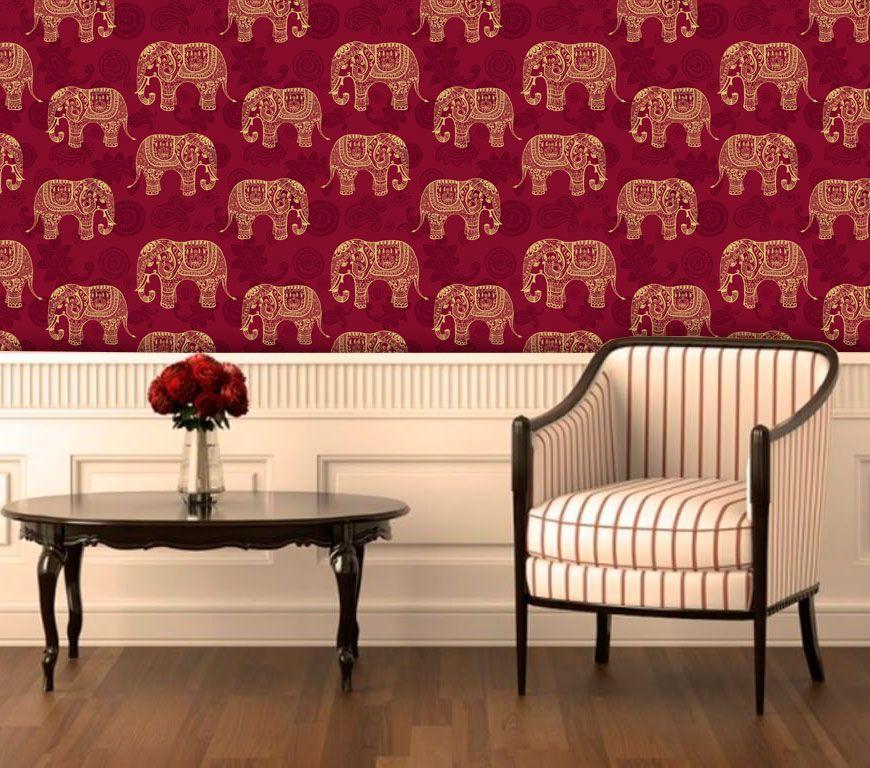 Papel de Parede Auto Adesivo Lavável Diversos Elefante da Sorte D0042  - Final Decor