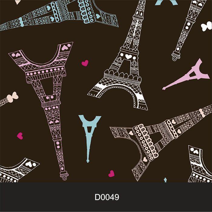Papel de Parede Auto Adesivo Lavável Diversos Torre Eiffel D0049   - Final Decor