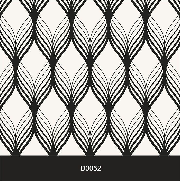 Papel de Parede Auto Adesivo Lavável Diversos Clássico Preto e Branco D0052  - Final Decor