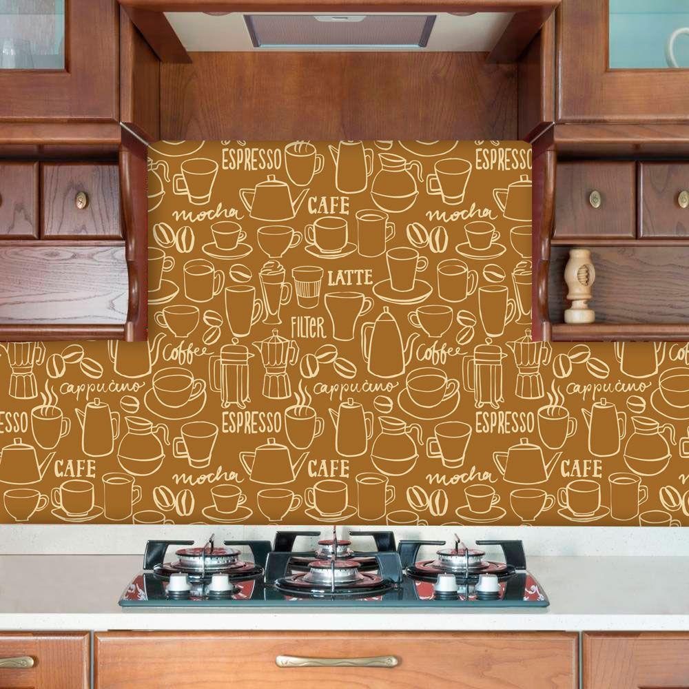 Papel de Parede Auto Adesivo Lavável Diversos d0055 Desenho de Cozinha  - Final Decor