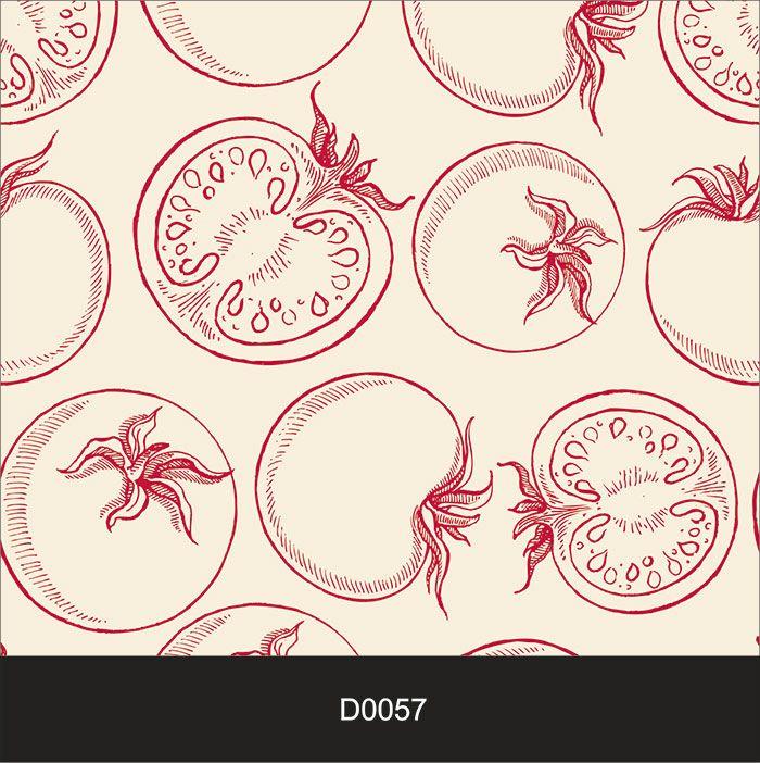 Papel de Parede Auto Adesivo Lavável Diversos Tomate Rosa D0057   - Final Decor