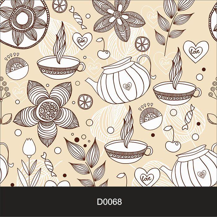Papel de Parede Auto Adesivo Lavável Diversos Desenho de Cozinha D0068  - Final Decor