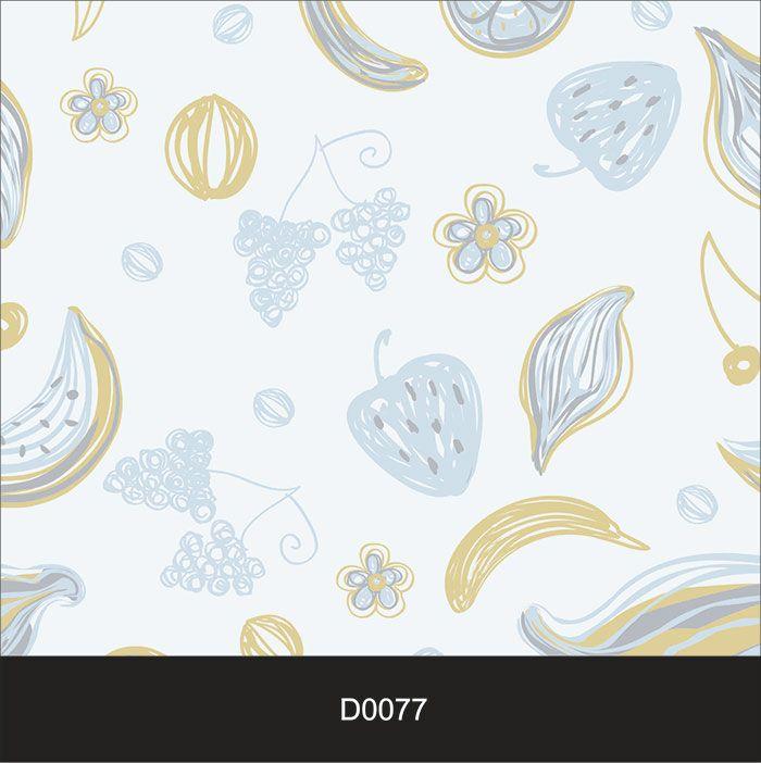 Papel de Parede Auto Adesivo Lavável Diversos d0077 Desenhos de Cozinha Azul  - Final Decor