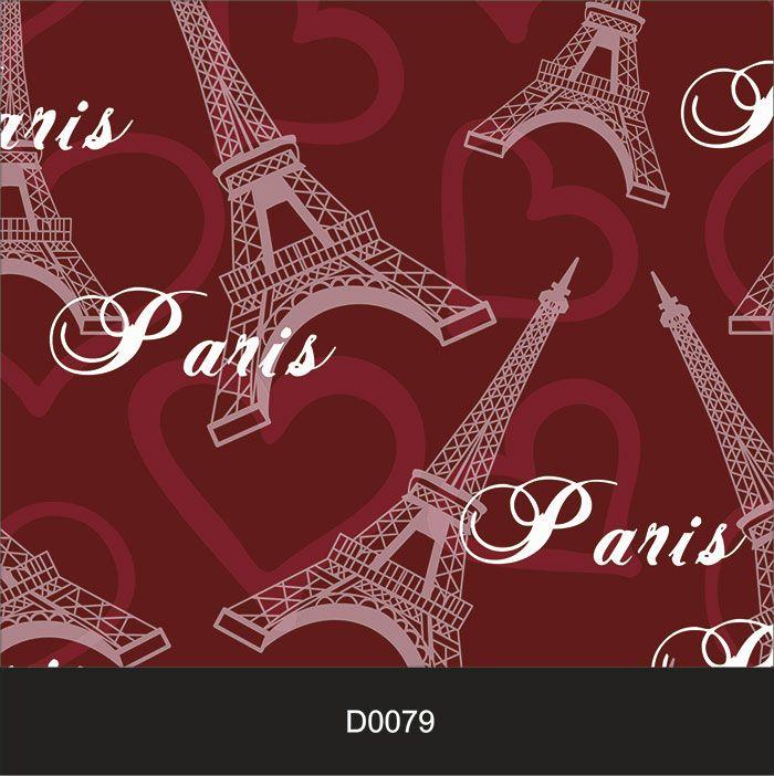 Papel de Parede Auto Adesivo Lavável Diversos d0079 Torre Eiffel  - Final Decor