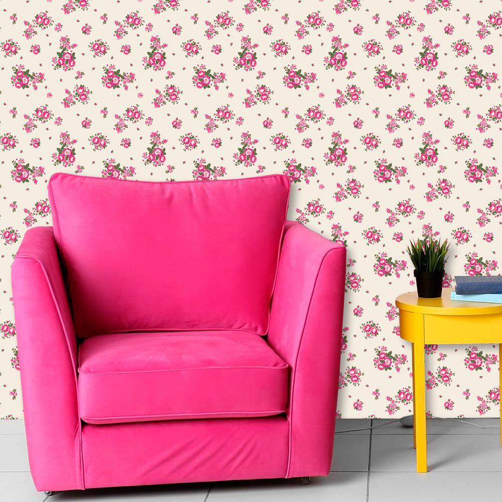 Papel de Parede Adesivo Lavável Floral Rosas F0007  - Final Decor