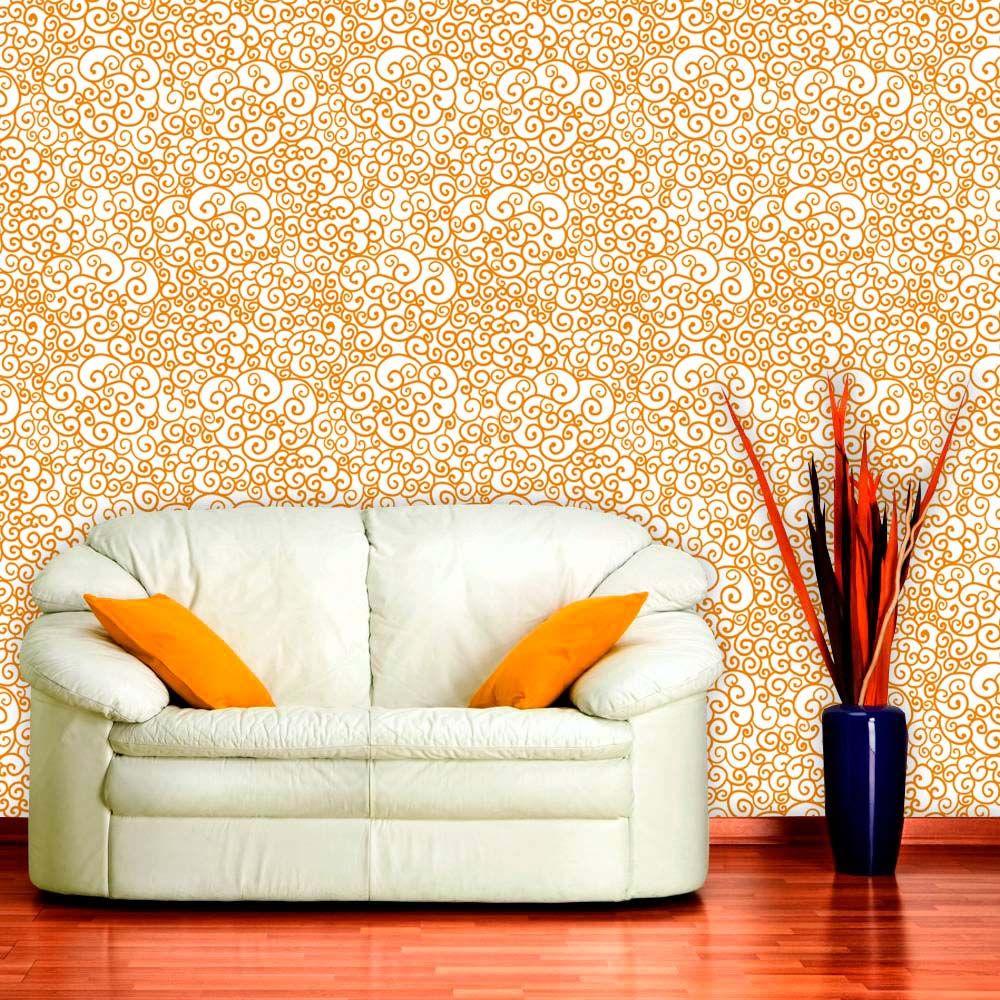 Papel de Parede Adesivo Lavável f0017 Floral Laços  - Final Decor