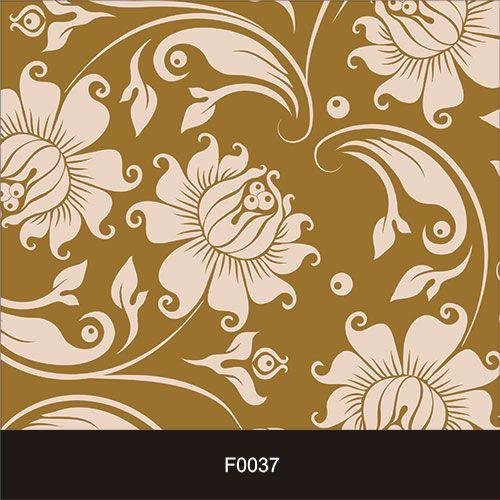 Papel de Parede Adesivo Lavável f0037 Floral Bege Retro  - Final Decor