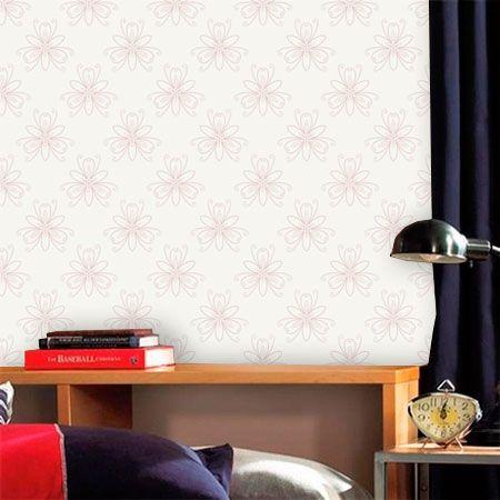 Papel de Parede Adesivo Lavável Floral Delicada Branca F0061  - Final Decor