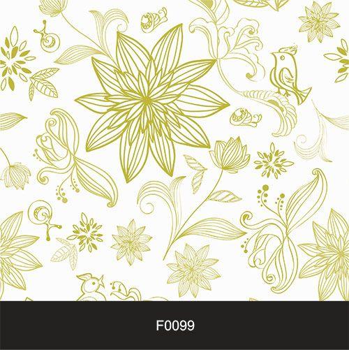 Papel de Parede Adesivo Lavável Floral Verde Claro F0099  - Final Decor