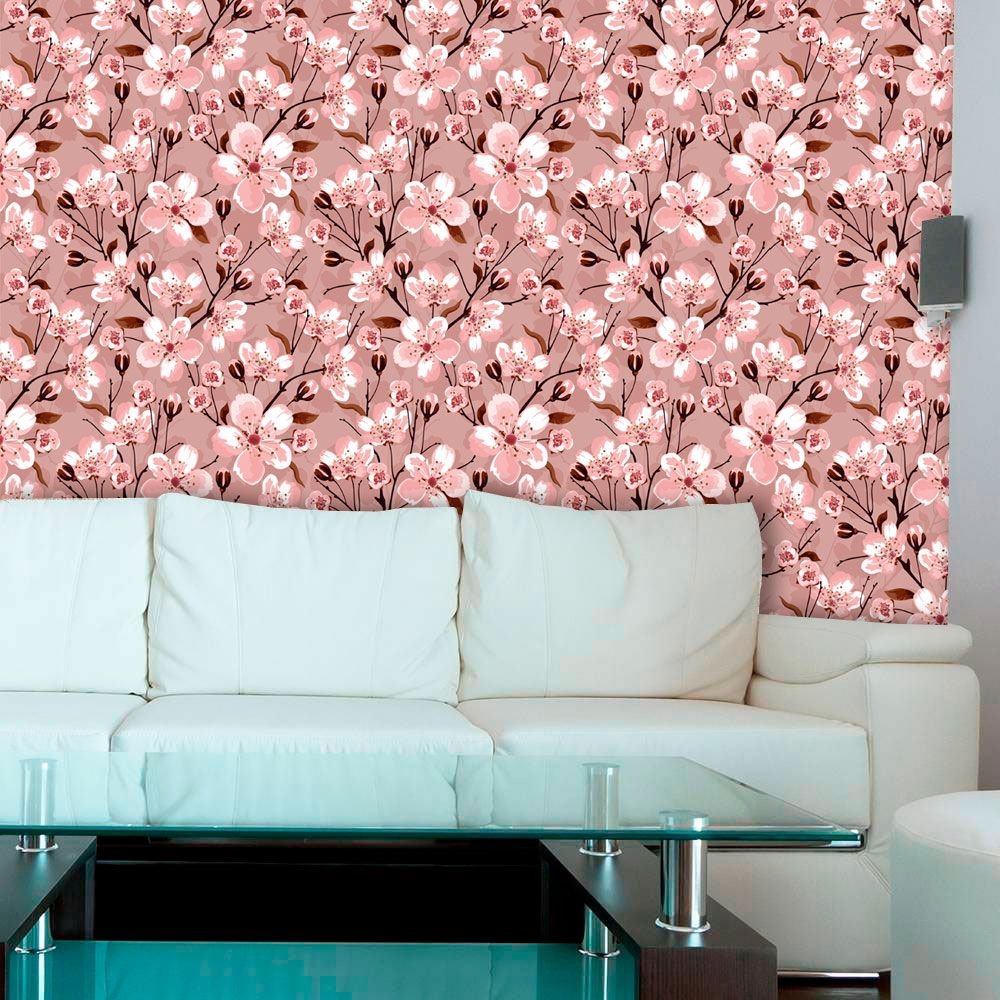 Papel de Parede Adesivo Lavável Floral Sakura F0132  - Final Decor