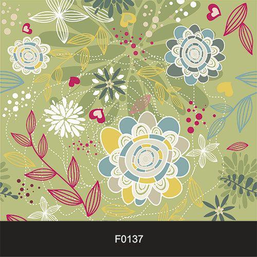 Papel de Parede Adesivo Lavável f0137 Floral Pássaro  - Final Decor