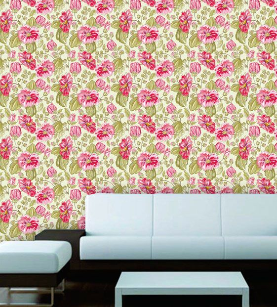 Papel de Parede Adesivo Lavável Floral Rosas F0159  - Final Decor