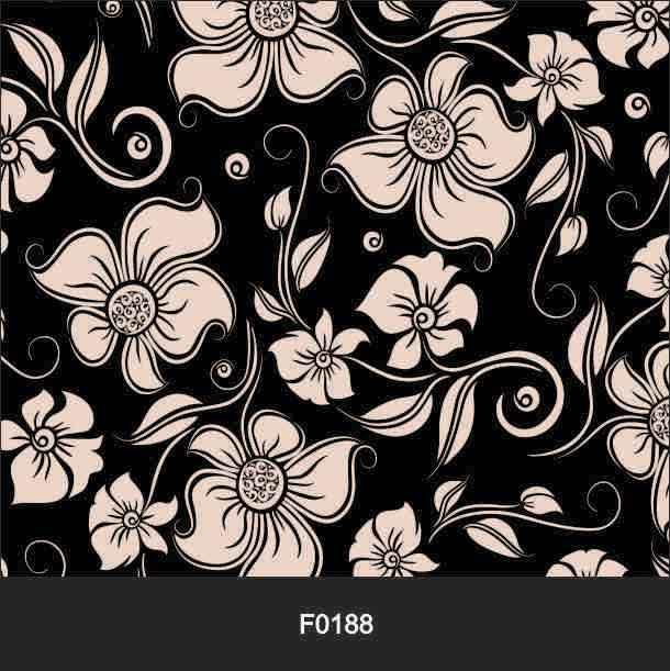 Papel de Parede Adesivo Lavável f0188 Floral Preta e Branca  - Final Decor
