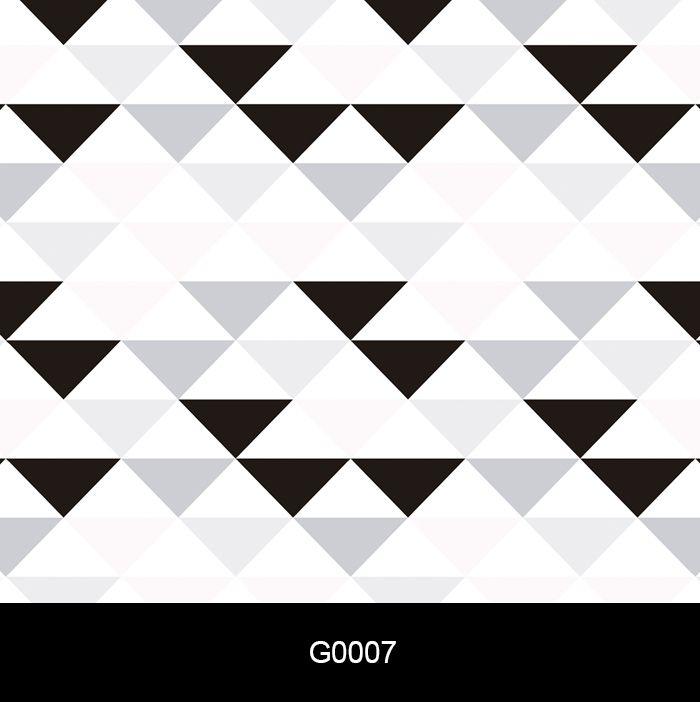 Papel de Parede Auto Adesivo Lavável G0007 Triângulo Preto e Branco  - Final Decor