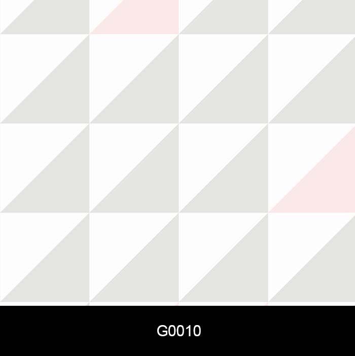 Papel de Parede Auto Adesivo Lavável G0010 Quadrado Rosa, Branco , Cinza  - Final Decor