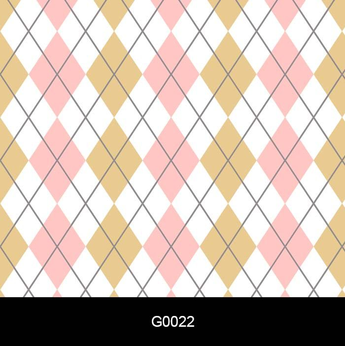 Papel de Parede Auto Adesivo Lavável Losango Rosa e Amarelo G0022  - Final Decor