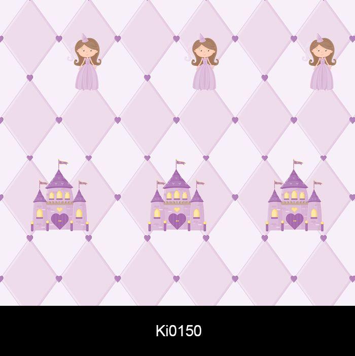 Papel de Parede Auto Adesivo Lavável KI0150  Princesa  Castelo  - Final Decor