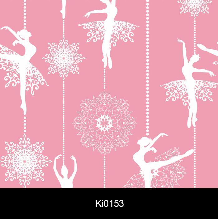 Papel de Parede Auto Adesivo Lavável Bailarina Rosa Pink Ki0153  - Final Decor