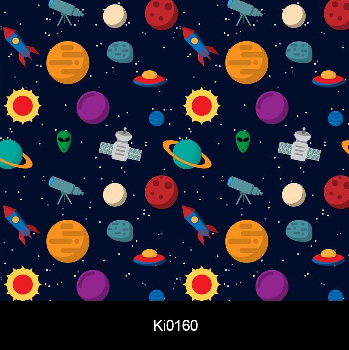 Adesivo de Parede Infantil Espaço Sistema Solar Papel de Parede Ki0160  - Final Decor