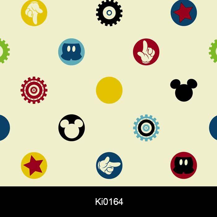 Papel de Parede Auto Adesivo Lavável Ki0164 Mickey  - Final Decor