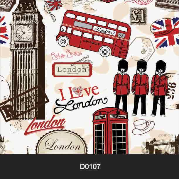 Papel de Parede Auto Adesivo Lavável Londres London  - Final Decor
