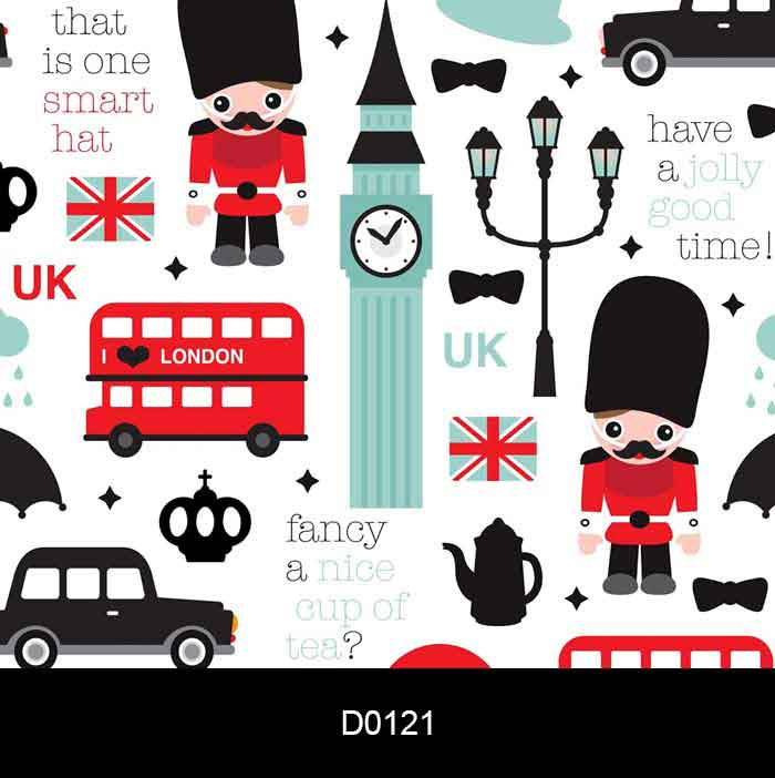 Papel de Parede Auto Adesivo Lavável d0121 Londres London Moderno  - Final Decor