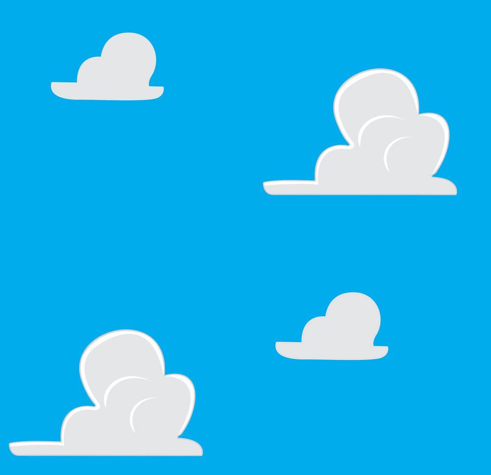 Papel de Parede Auto Adesivo Lavável Nuvem Azul Celeste D0140  - Final Decor