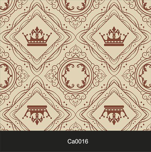 Papel de Parede Lavável Clássico Arabesco ca0016 Coroas  - Final Decor