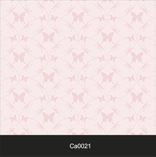 Papel de Parede Lavável Clássico Arabesco Borboletas Rosas CA0021  - Final Decor
