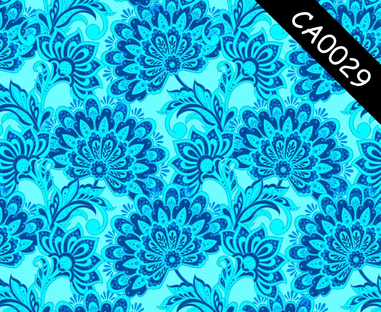 Papel de Parede Lavável Clássico Arabesco Azul CA0029  - Final Decor
