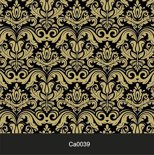Papel de Parede Lavável Clássico Arabesco Dourado CA0039  - Final Decor