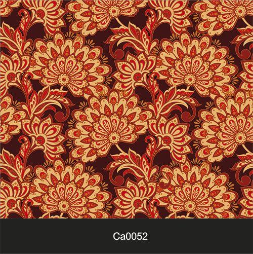 Papel de Parede Lavável Clássico Arabesco Mosaico Laranja CA0052  - Final Decor