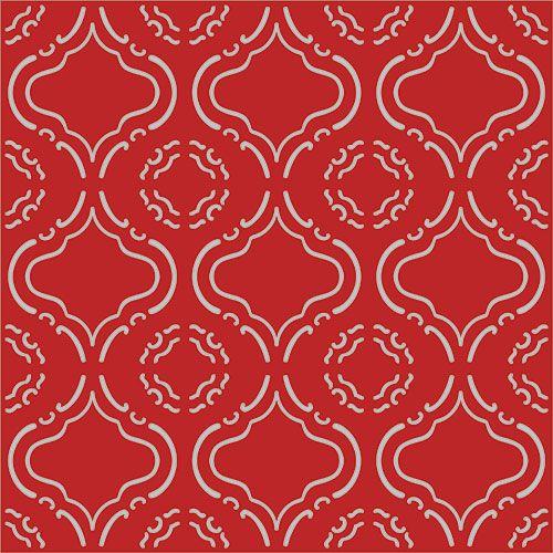 Papel de Parede Lavável Clássico Arabesco Vermelho CA0067  - Final Decor